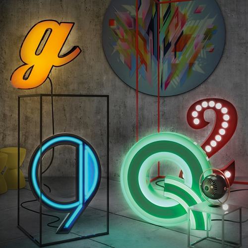 lampes graphiques, lampes lettres, lampes chiffres, lampes Delightfull, Lovely Market