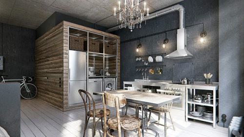 petite appartement masculin, appartement ton gris, studio chic, Lovely Market