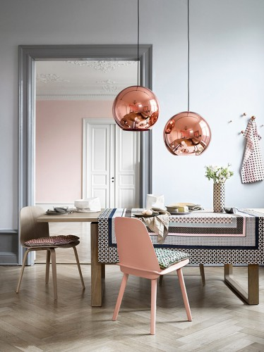 suspension design, suspension Tom Dixon, Suspension cuivre, suspension noire, Lovely Market