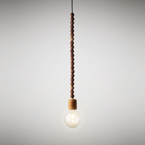 suspension design, suspension bois, suspension collier de perles, suspension originale, Marz Design