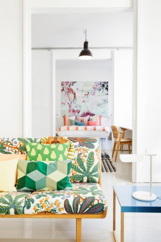 idée déco, inspiration déco, appartement coloré, styliste Linda Bergroth, Lovely Market