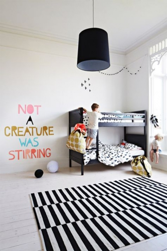 chambre enfant noir et blanc lovely market les trouvailles de constance. Black Bedroom Furniture Sets. Home Design Ideas