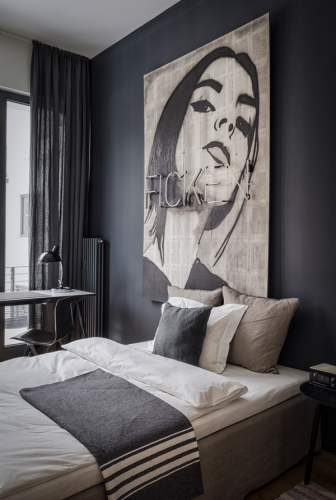 appartement masculin, idée déco, inspirations déco, appartement tons gris, Lovely Market