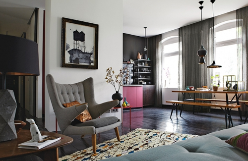 Appartement styliste, Peter Fehrentz, appartement masculin, Lovely Market